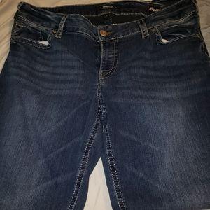 Silver suki stretch Jean sz 20